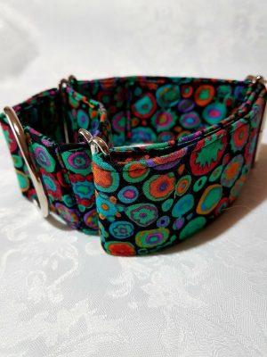 collar martingale antiescape para perros multicolor