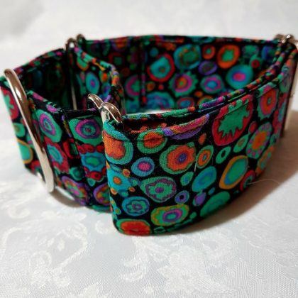 collar martingale antiescape para perros multicolor