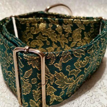 collar para galgos en tela damasco modelo d5