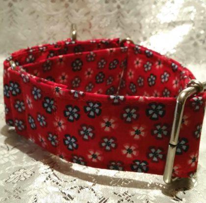 collar para perros hecho a mano modelo c9 flores