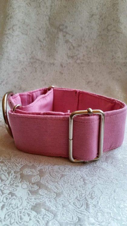 collar para perros rosa hecho a mano modelo c10