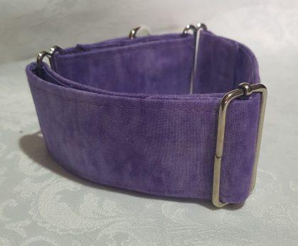 collar de tela para perros color violeta