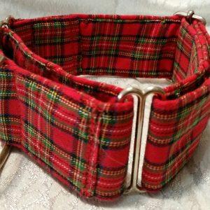 collar para galgos con cuadros escoceses