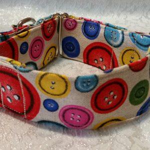 collar para perros con botones de colores modelo C73