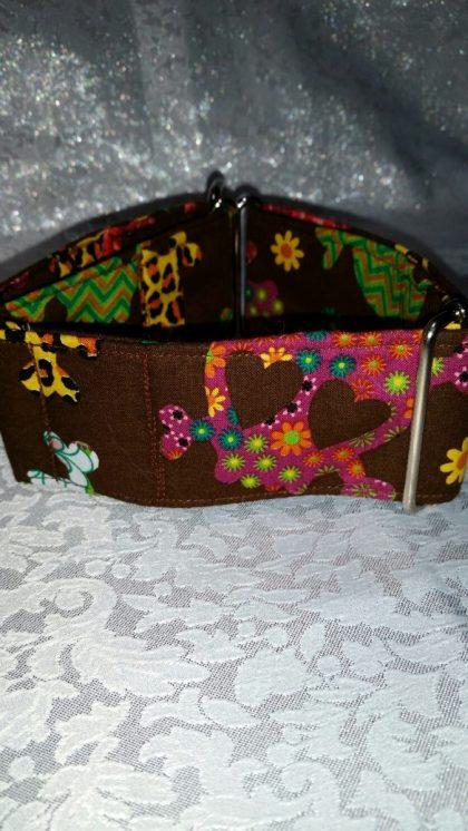 collar para perros con calaveras mejicanas modelo C87