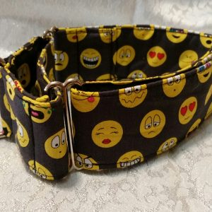 collar para perros con emoticonos smiley modelo C72