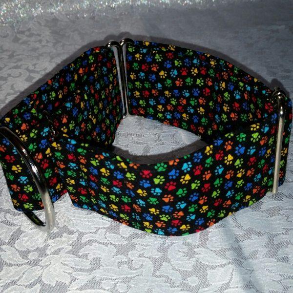 collar para perros con huellas de colores modelo C88