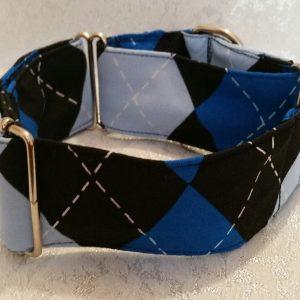 collar para perros rombos azules modelo c60