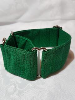 collar para perros liso verde