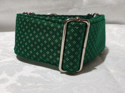 collar martingale para perros verde con flores modelo c146