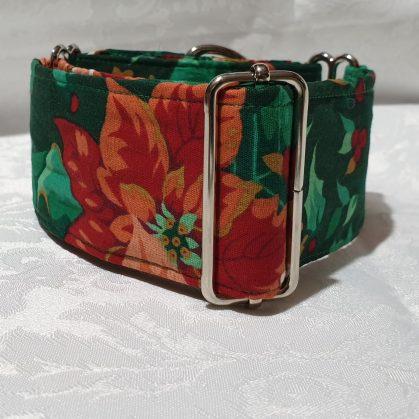 collar para perros de tela con flores modelo c147